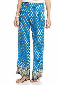 New Directions Petite Border Print Soft Pant