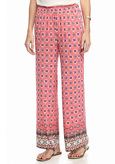 New Directions Petite Border Print Soft Pants