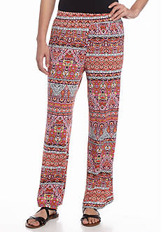 New Directions Petite Chevron Mixed Print Soft Pants