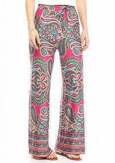 New Directions Petite Swirl Print Soft Pants