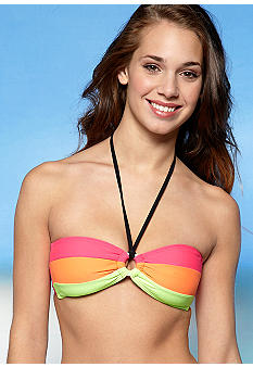 Red Camel Writers Block Bandeau Top
