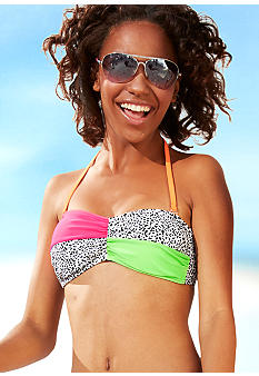 Red Camel Leopard Bandeau Top