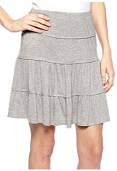 Heather Tiered Skirt