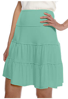 Sophie Max Jersey Tiered Skirt