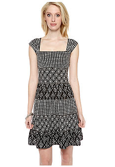 Sophie Max Printed Tiered Tank Dress