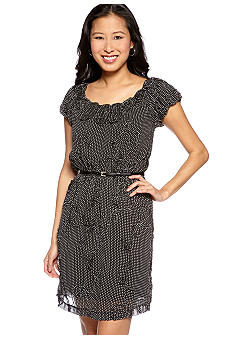 Sophie Max Printed Dress with Yoke