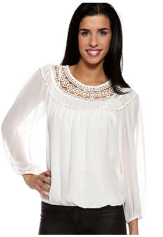 Sophie Max Georgette Blouse with Yoke