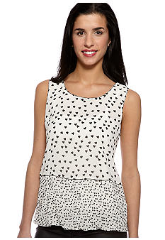Sophie Max Print Sleeveless Blouse