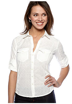 Sophie Max Dot Button Front Top