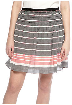 Sophie Max Stripe Pintuck Skirt