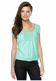 Sophie Max Crochet Trim Blouse