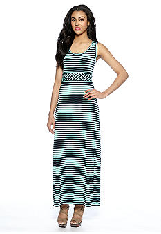 Sophie Max Sleeveless Stripe Jersey Maxi Dress