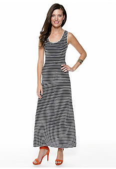 Sophie Max Novelty Scalloped Jersey Maxi Dress