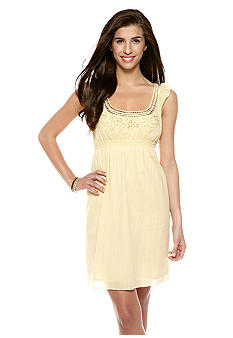 Sophie Max Embellished Neckline Empire Waist Dress