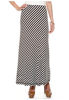 Sophie Max Bias Stripe Maxi Skirt