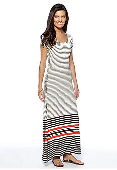 Sophie Max Stripe Lace Up Maxi Dress