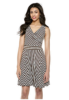 Sophie Max Sleeveless Jersey Stripe Dress