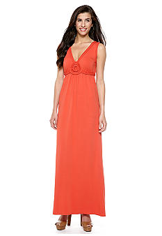 Sophie Max Braid Embellished Maxi Dress