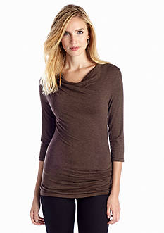 Sophie Max Heather Drape Neck Top