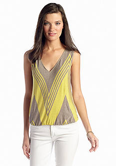 Sophie Max Sleeveless Heathered Stripe Tee