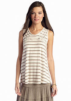 Sophie Max Striped Sleeveless Heather Tunic