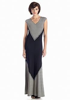Sophie Max Blocked Stripe Jersey Maxi Dress