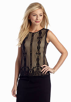 Sophie Max Sleeveless Lace Shell