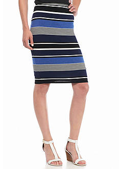 Sophie Max Striped Pencil Skirt