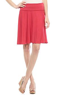 Sophie Max Foldover Waist Flare Skirt