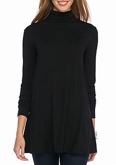 Sophie Max Ruched Turtleneck Knit Tunic