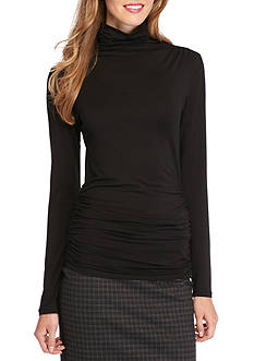 Sophie Max Ruched Turtleneck Top
