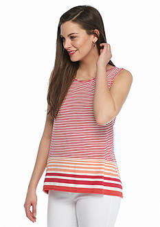 Sophie Max Stripe High Low Tank