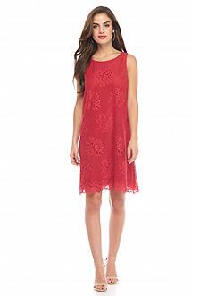 Sophie Max Floral Lace Shift Dress