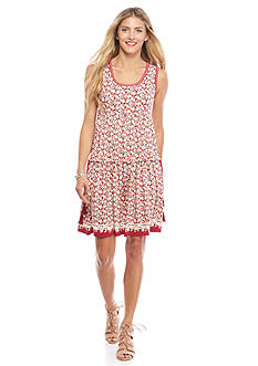 Sophie Max Floral Tiered Dress