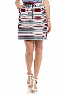 Sophie Max Stripe Jersey Drawstring Skirt