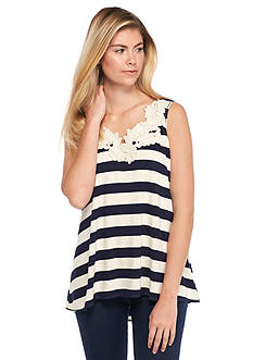 Sophie Max Striped Jersey Tank