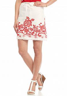Sophie Max A-Line Border Stitch Skirt