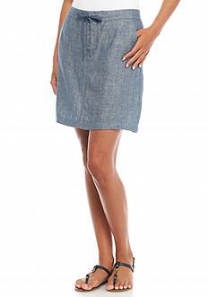 Sophie Max Cross Dye Linen A-Line Skirt
