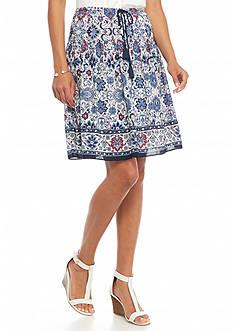 Sophie Max Tie Front Printed Skirt