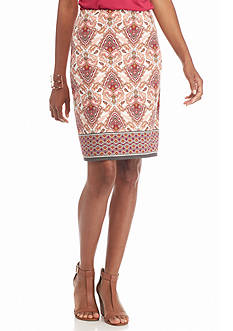Sophie Max Paisley Print Pencil Skirt
