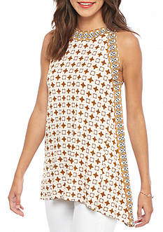 Sophie Max Printed Trapeze Tunic Top