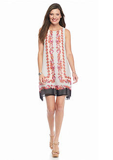 Sophie Max Sleeveless Printed A-Line Dress