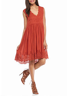 Sophie Max Embroidered Voile Dress