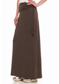 Sophie Max Ruched Foldover Waist Maxi Skirt