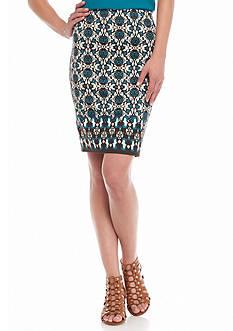Sophie Max Floral Ponte Skirt