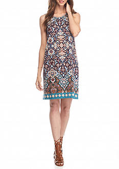 Sophie Max Tapestry Print Knit Dress