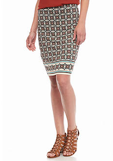 Sophie Max Printed Knit Skirt