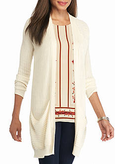 Sophie Max Ribbed Cardigan