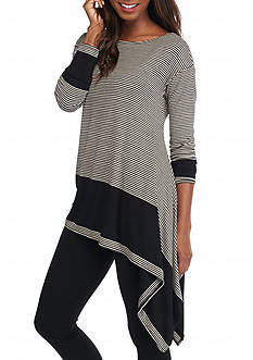 Sophie Max Asymmetrical Striped Top