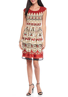 Sophie Max Printed Pleated Dress